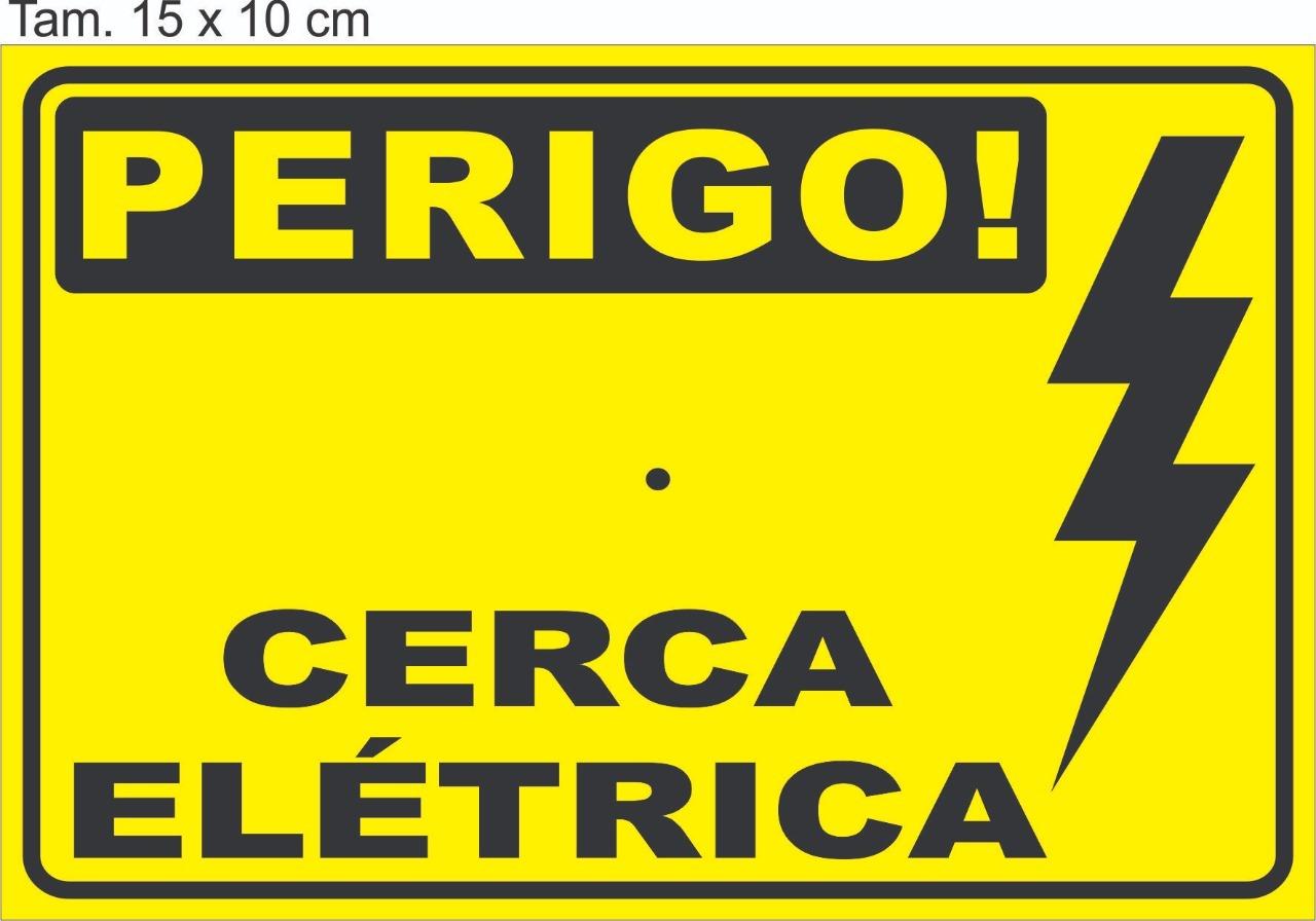Placa cerca eletrica personalizada