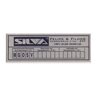 Placas em aluminio